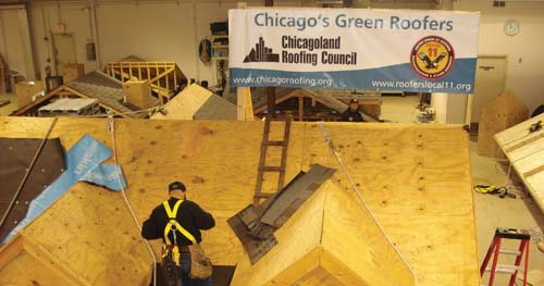 Chicagoland Roofers Joint Apprenticeship Training Center provides education on the details of steep slope and low sloped roofs.