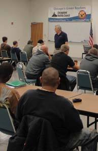 Chicagoland Roofers Joint Apprenticeship Training Center provides classroom and hands on education.