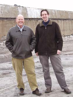 The project is the brainchild of Dave Hagen (left) and Hoyt Hudson (right).